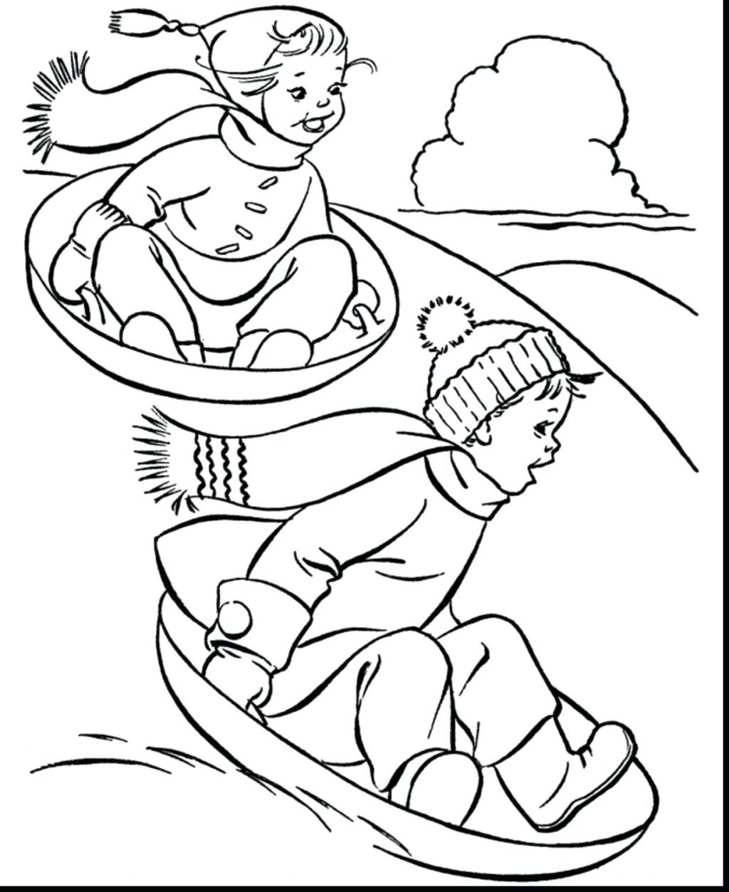 1024x1253 Full Winter Holiday Coloring Pages Free