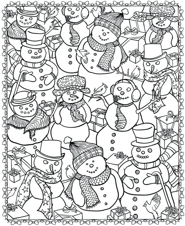 650x793 Holiday Coloring Book For Adults As Well As Printable Coloring