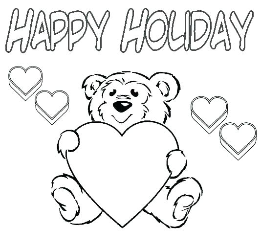 534x507 Holiday Coloring Pages Winter Holiday Coloring Pages Holidays
