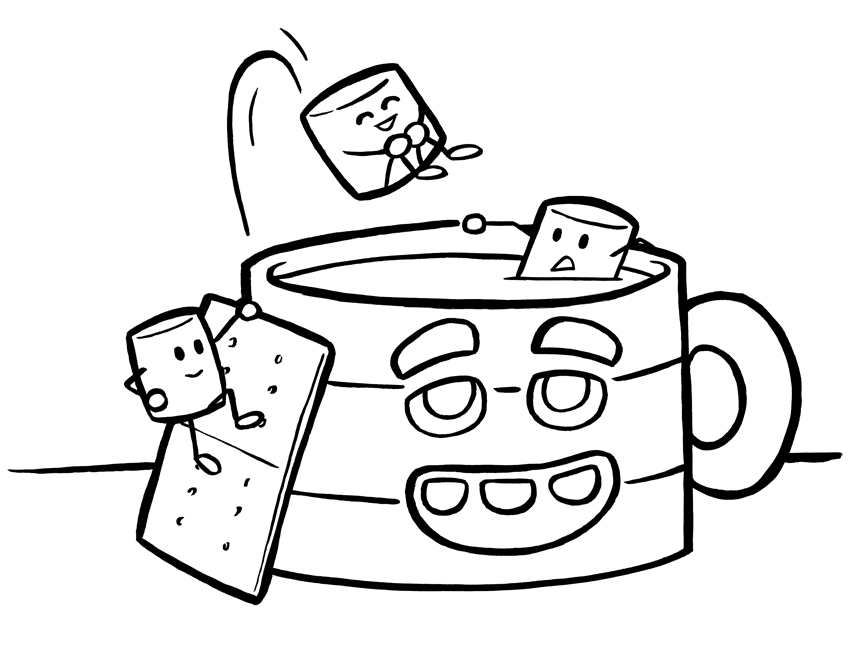 848x648 Coffee Mug Coloring Page Coloring Pages Blog I Love To Doodle