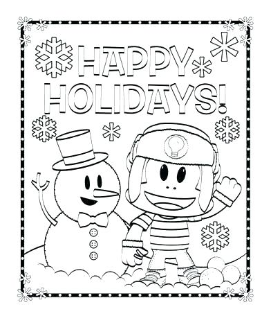 379x456 Winter Holiday Coloring Pages Printable
