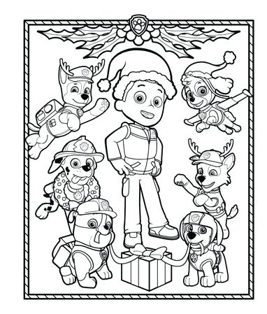 382x449 Holiday Coloring Pages Get In The Holiday Spirit With This Paw