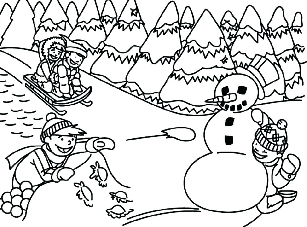 1024x758 Coloring Pages For Winter Holiday Coloring Pages Winter Holiday