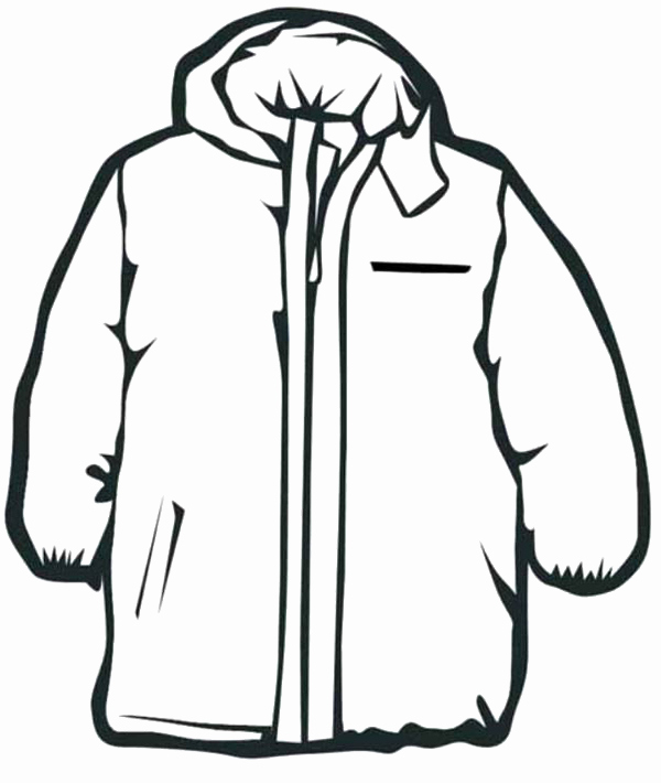 Winter Jacket Coloring Page