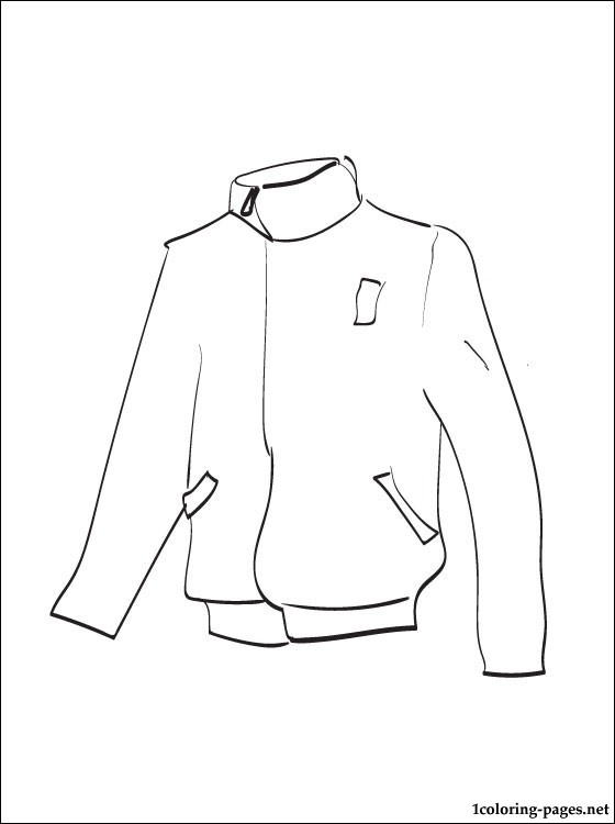 560x750 Jacket Coloring Page To Print Out Coloring Pages