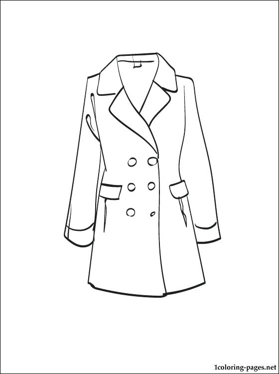 560x750 Winter Coat Coloring Page Coat Coloring Page To Print Out Coloring