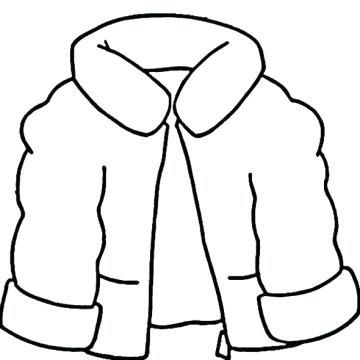 360x360 Winter Coat Coloring Page Coloring Page Outline Clothes Jacket