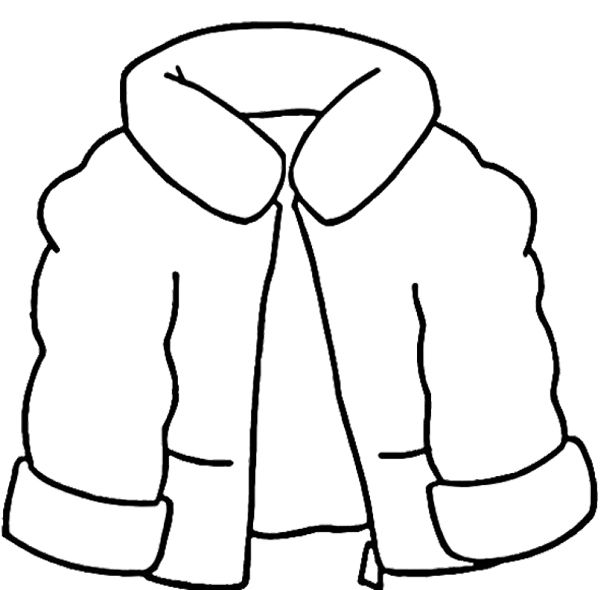 600x590 Winter Coat Coloring Pages