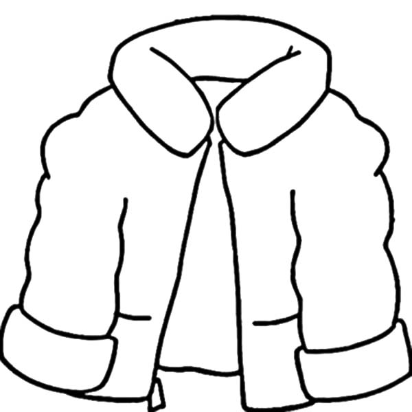 600x600 Coat Coloring Page Coat For Winter Clothing Coloring Page Coloring