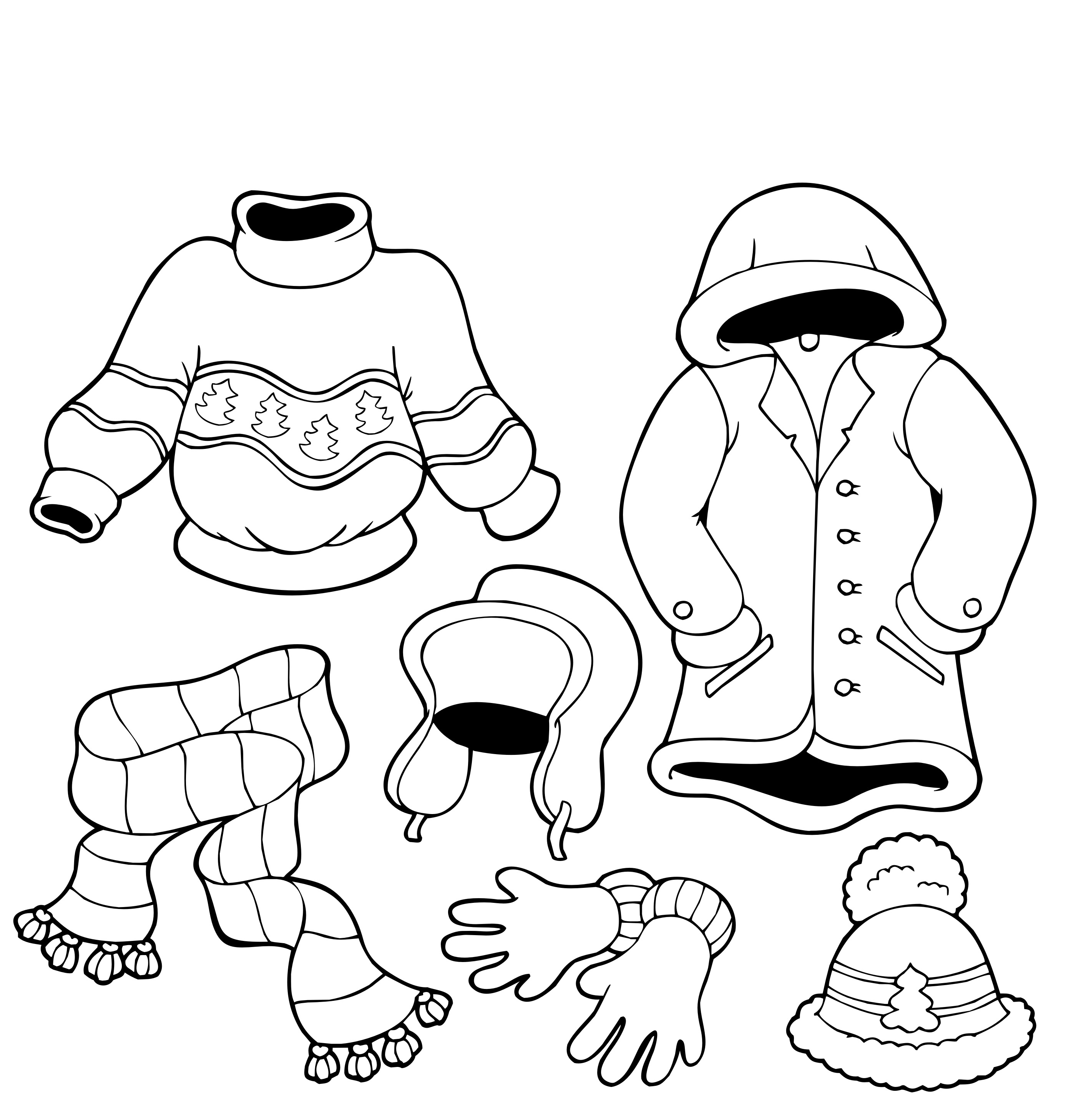 2800x2914 Coloring Page Winter Clothes Winter Clothes Coloring Pages