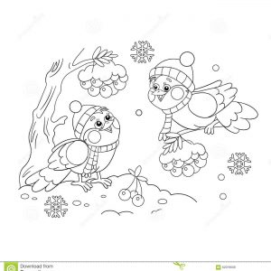 300x300 Coloring Pages Birds In Winter Best Of Winter Birds Coloring Page