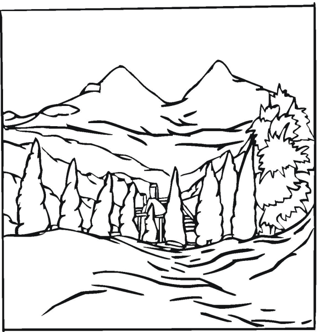 Winter Landscape Coloring Pages At Getdrawings Com Free For