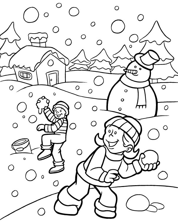 605x754 Scenery Coloring Pages Of Winter Scene Page We Are All Magical