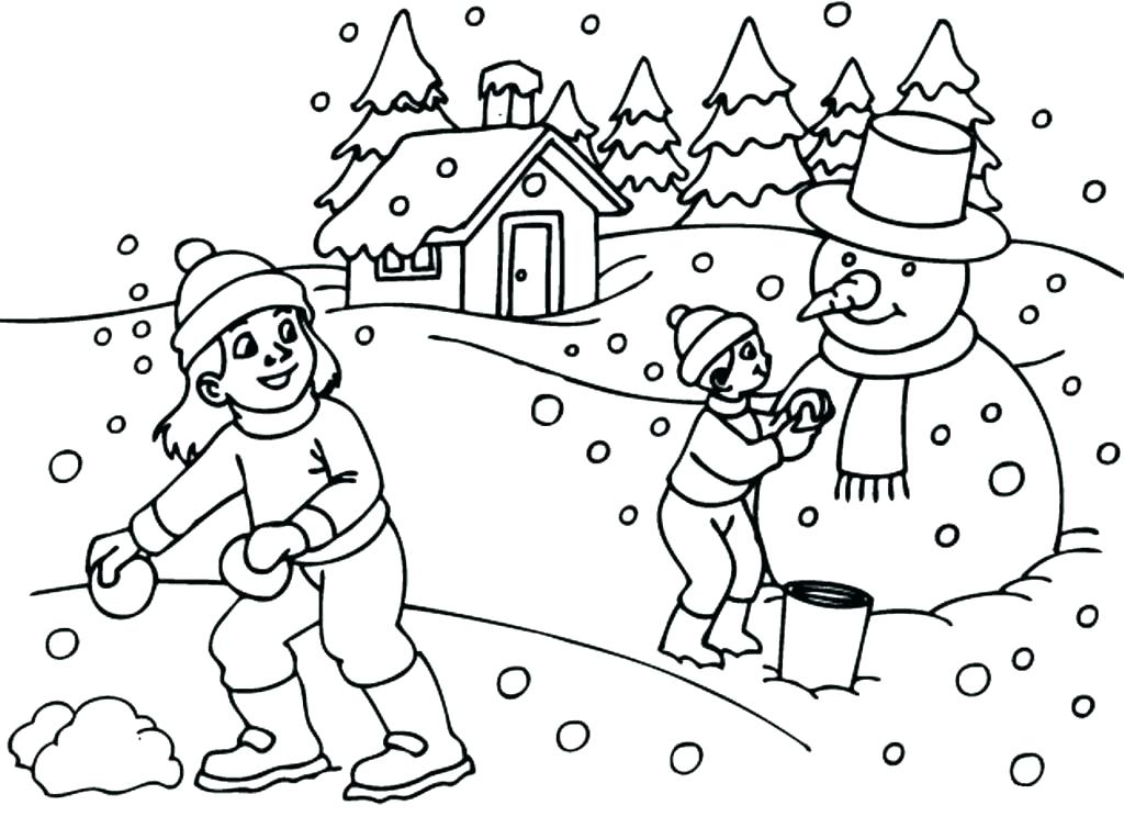 1024x764 Winter Coloring Page Printable Winter Coloring Pages Snowman Free
