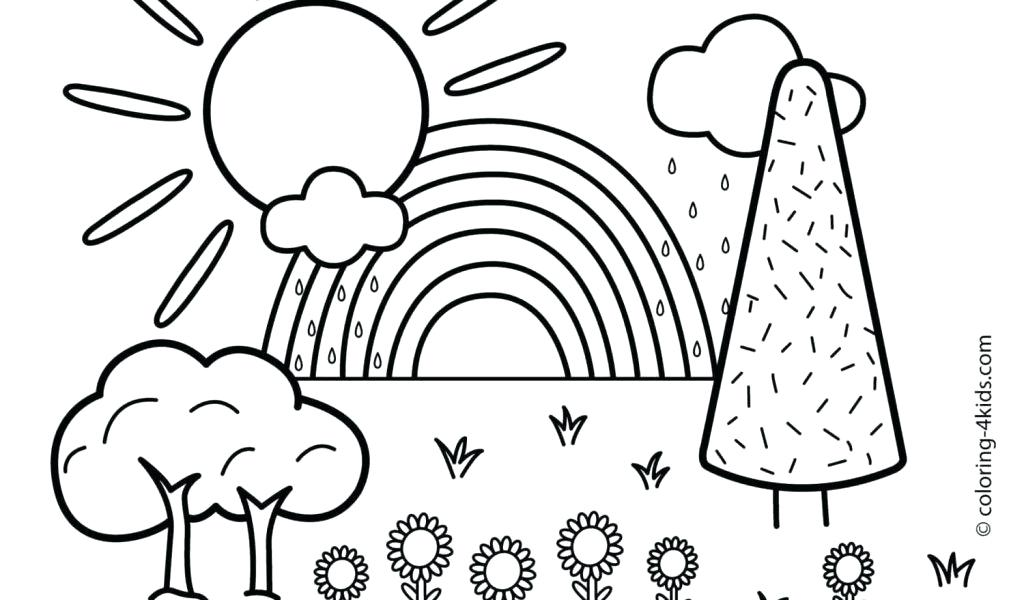 1024x600 Winter Landscape Colouring Pages L E Cute Scene To Color And Enjoy