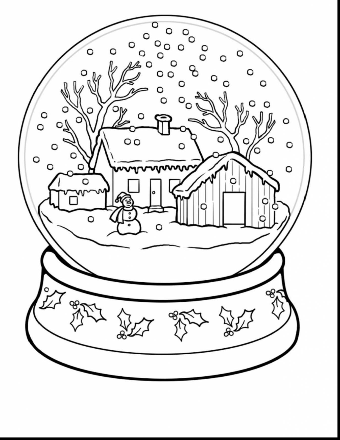 1346x1742 Affordable Spectacular Winter Scene Coloring Pages With Snow