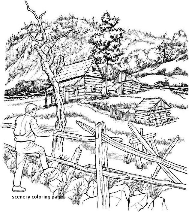 630x706 Winter Scene Coloring Pages For Adults Google Search For Scenery