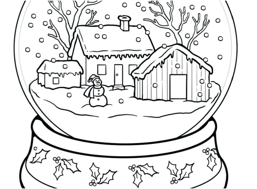 827x609 Winter Snow Landscape Coloring Pages Coloring Page For Kids Kids