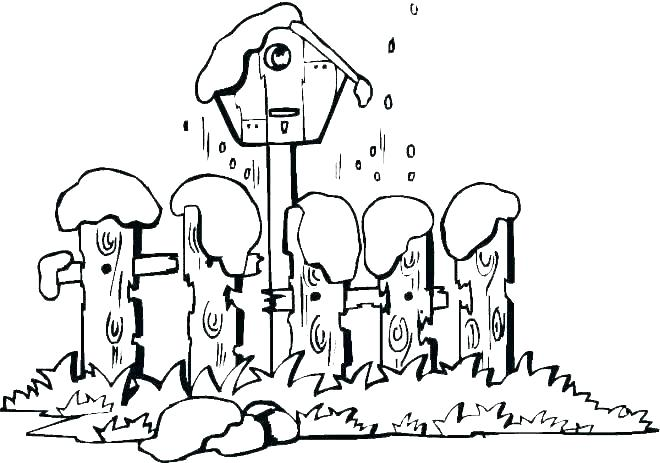 660x463 Winter Scene Coloring Pages