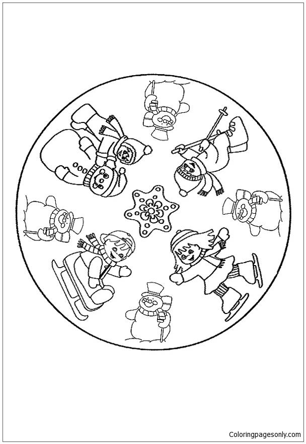 Winter Mandala Coloring Pages At Getdrawings Free Download