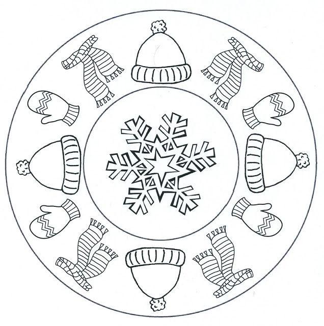 Winter Mandala Coloring Pages At Getdrawings Free Download