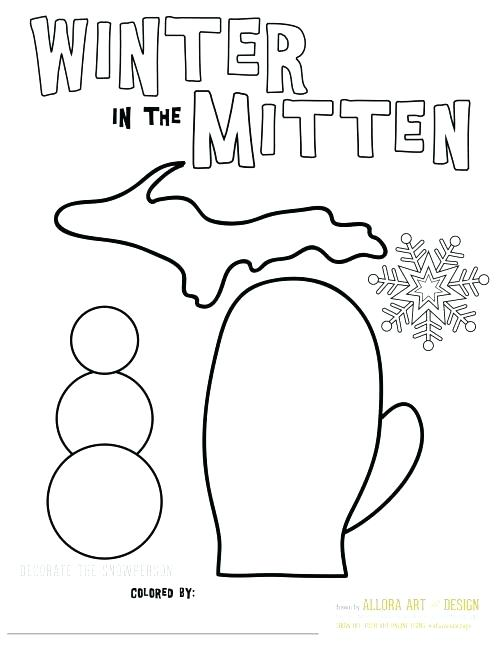500x647 The Mitten Coloring Page The Mitten Coloring Pages Mitten Mitten