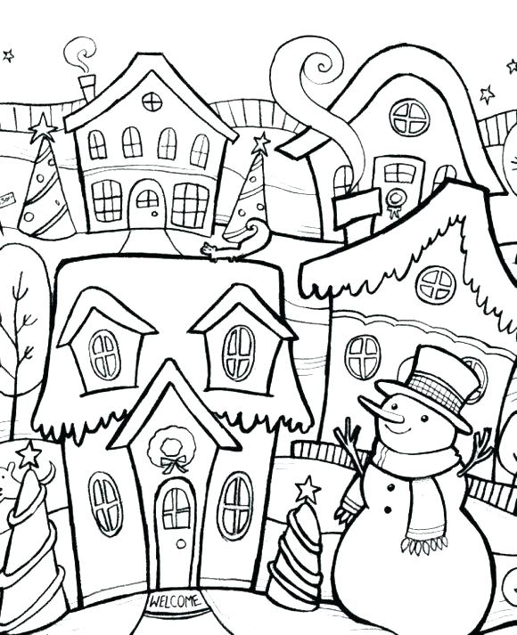 580x713 Winter Coloring Page Printable Winter Coloring Pages Snowman Free