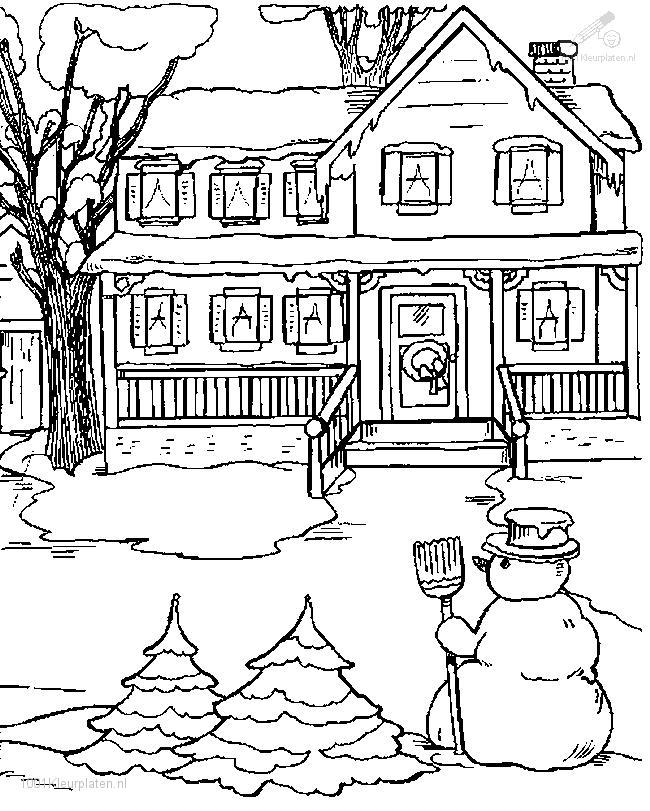 650x811 Winter Coloring Pages Adults
