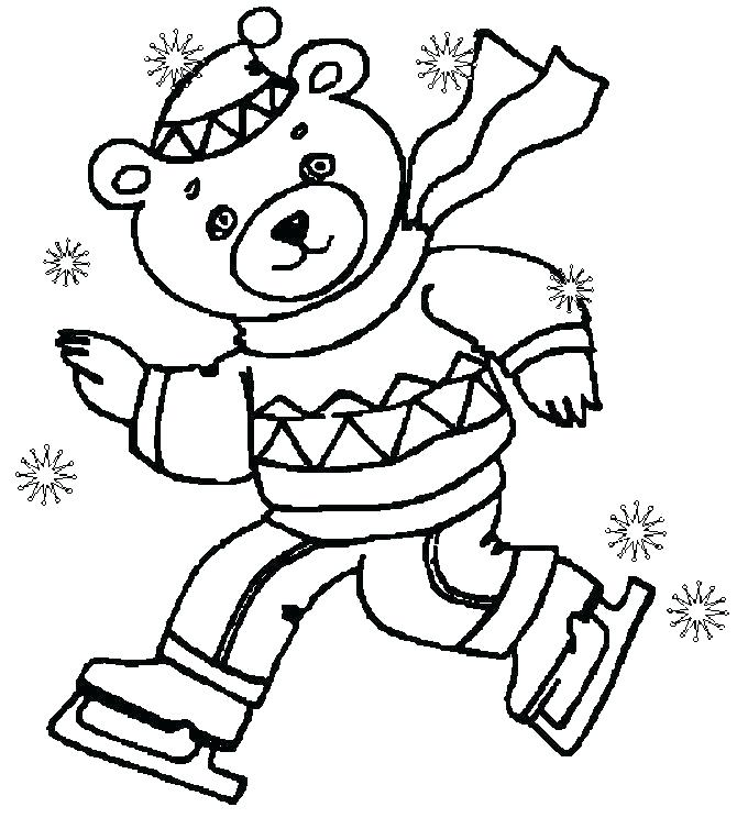 670x764 Winter Coloring Pages Adults Also Winter Coloring Pages Adults