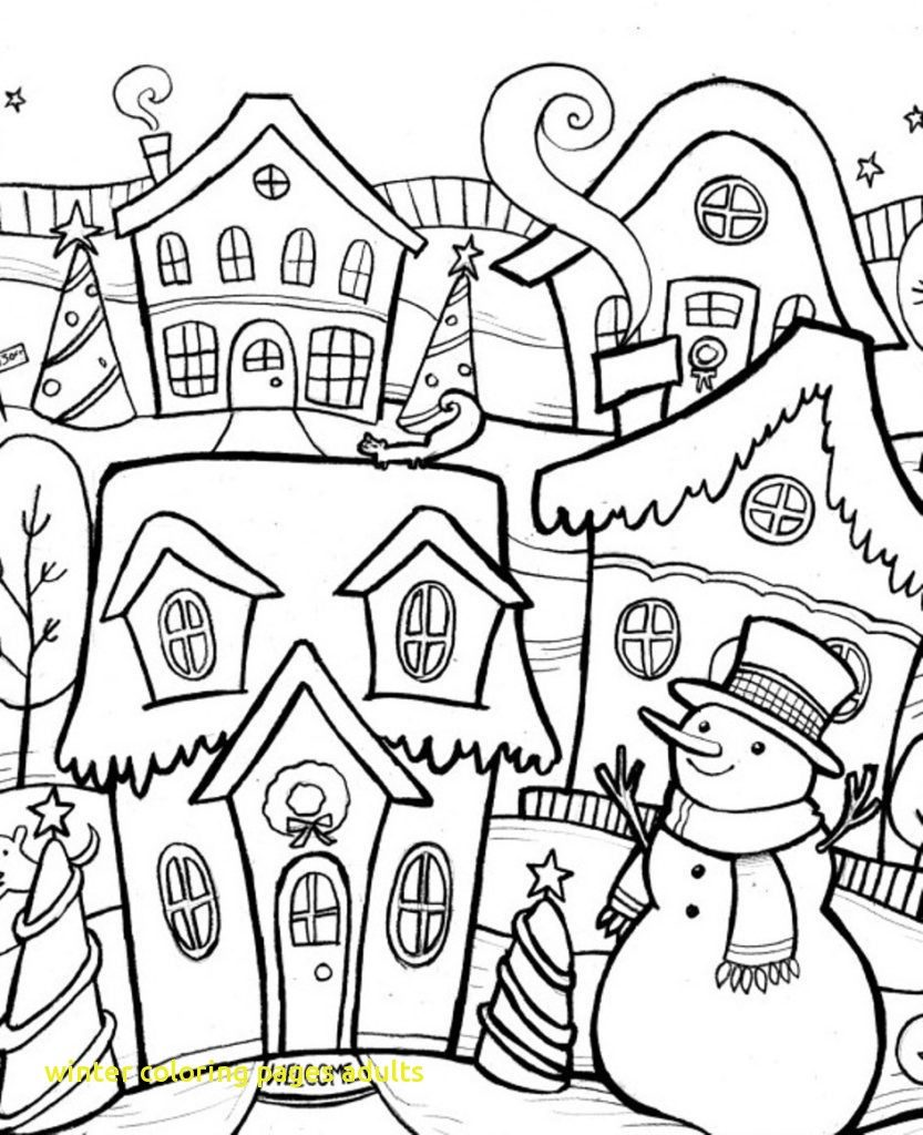 833x1024 Winter Scene Coloring Pages