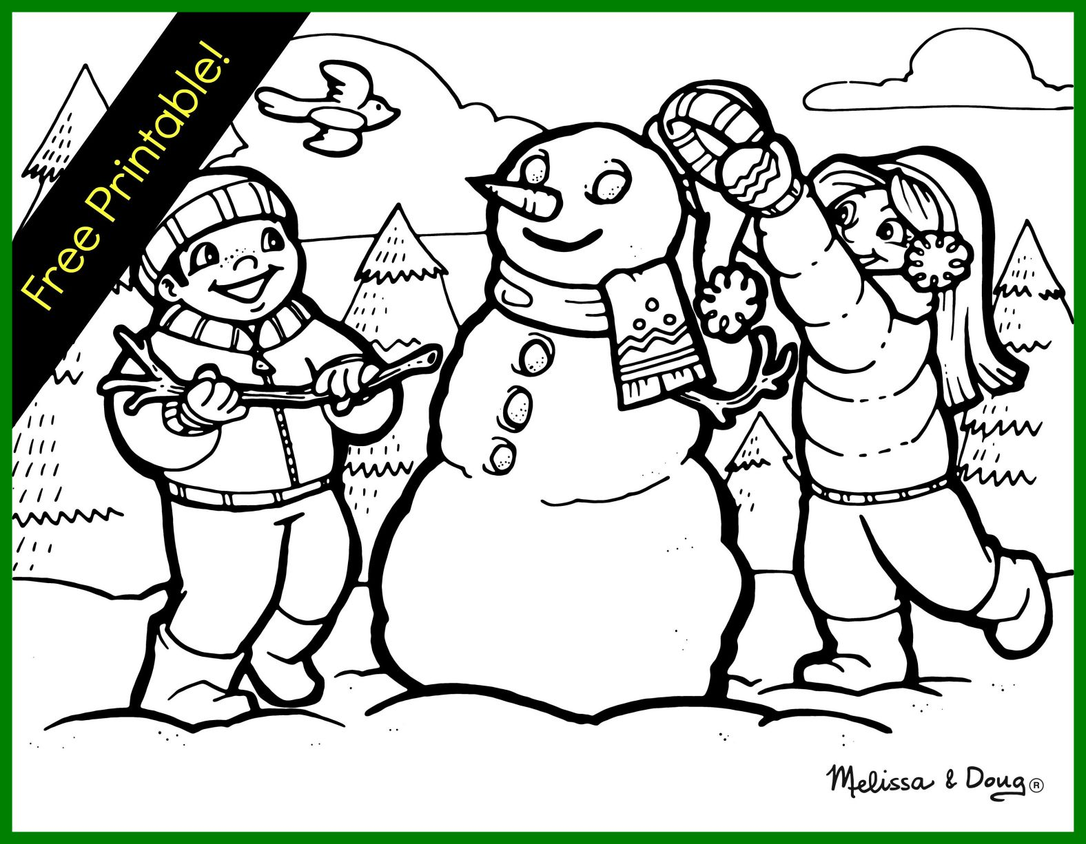 1576x1226 Winter Scene Coloring Pages