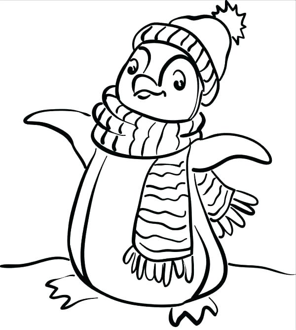 600x668 Winter Scene Coloring Pages Winter Scene Coloring Pages Winter