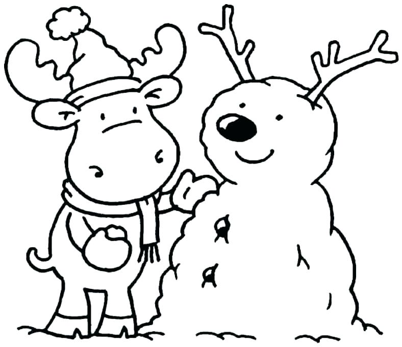 788x681 Winter Scene Coloring Pages Winter Scene Girl With Animals In Snow