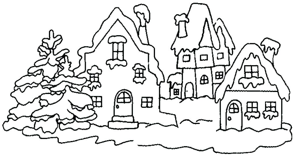 1024x541 Winter Scenes Coloring Pages Snow Coloring Pages Winter Scenes