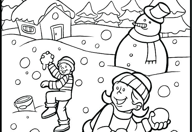 618x425 Winter Snow Scene Coloring Pages Winter Scene Coloring Pages