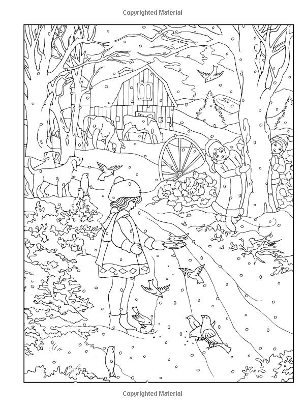 600x800 Creative Haven Winter Scenes Coloring Book