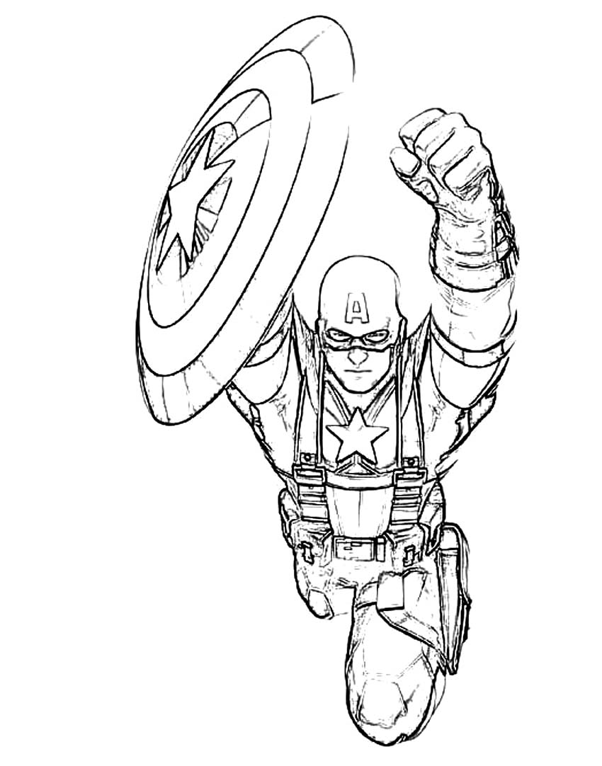 Winter Soldier Coloring Pages At Getdrawings Com Free For Personal