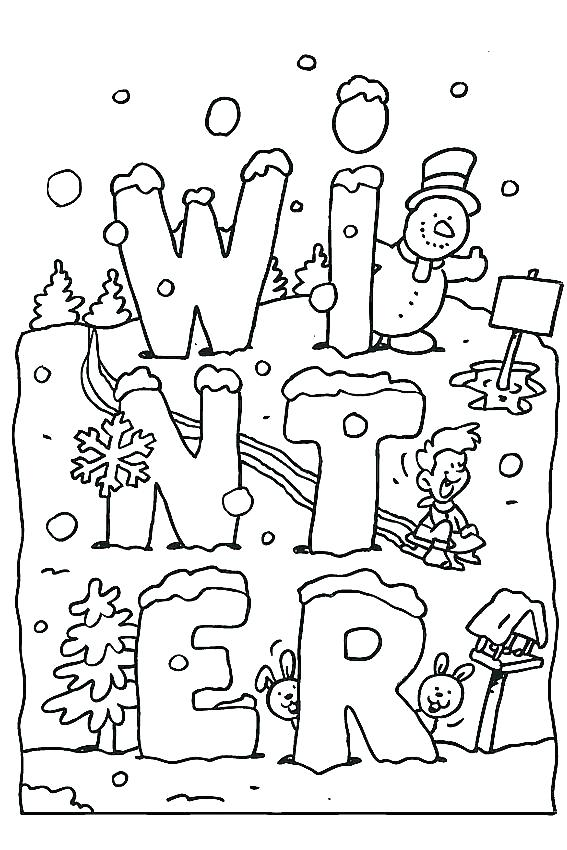 567x850 Winter Coloring Pages Print Color Craft Incoloring Pages