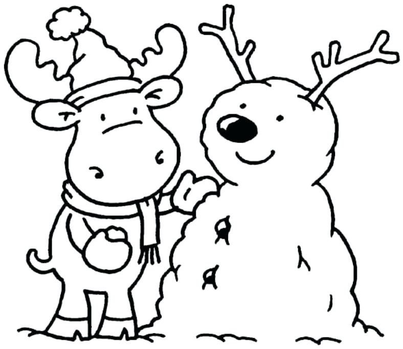 788x681 Winter Coloring Pages Free