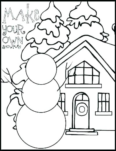 400x518 Winter Coloring Pages Free