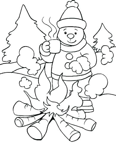 389x480 Coloring Pages For Winter Winter Animal Coloring Pages Winter