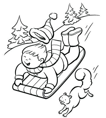 360x400 Coloring Pages For Winter Winter Colouring Pages For Kids Coloring