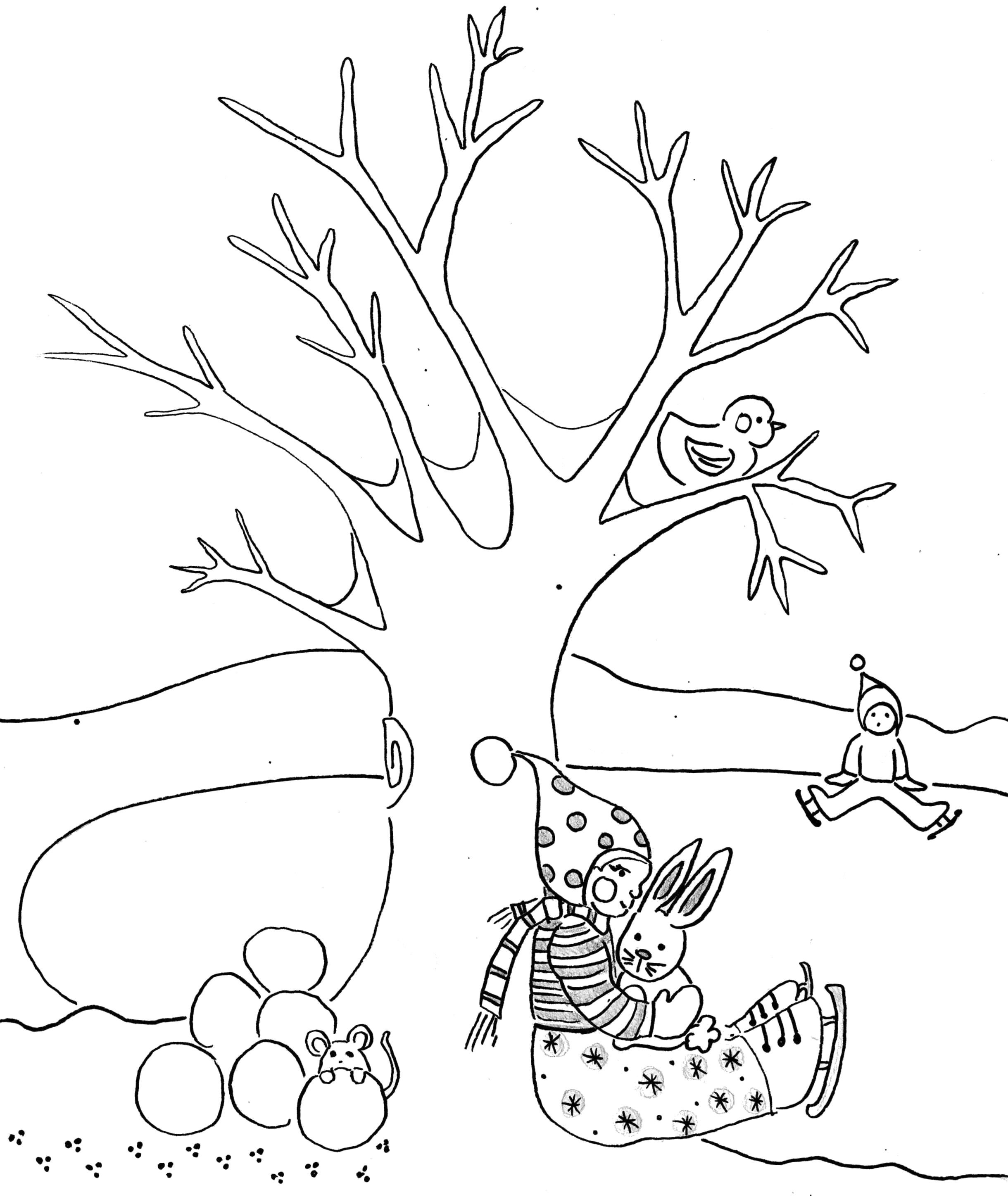 2440x2898 Revolutionary Winter Tree Coloring Page Awesome Bare Free Pages