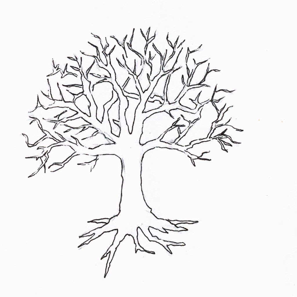1024x1024 Strange Winter Tree Coloring Page Pages Pinter