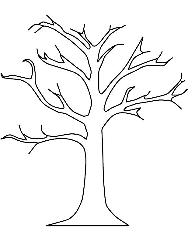 618x752 Winter Tree Coloring Page For Zaccheus Craft Tree Coloring
