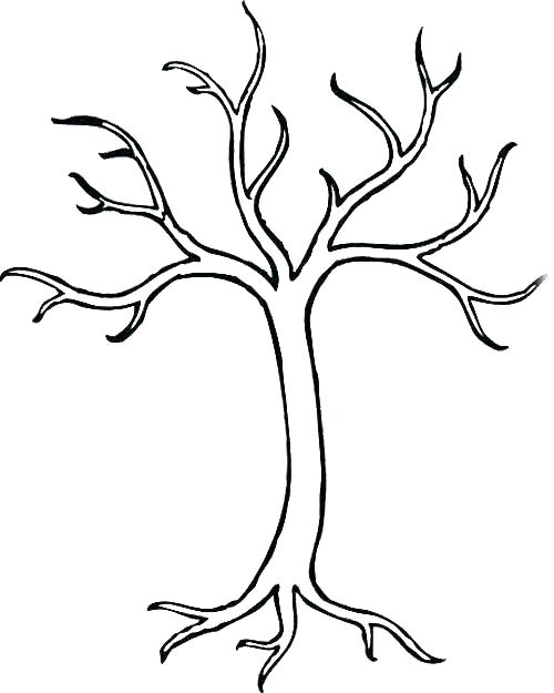 500x625 Bare Tree Coloring Page Free Winter Tree Coloring Page Printable