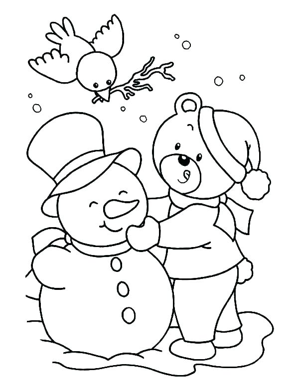 600x785 Printable Coloring Pages Winter Coloring Book Pages To Print
