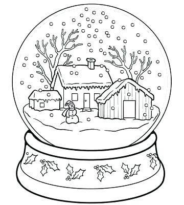 360x400 Printable Coloring Pages Winter Coloring Pages To Print Out