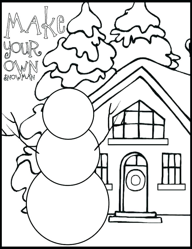 736x952 Printable Coloring Pages Winter Winter Coloring Book Pages Free