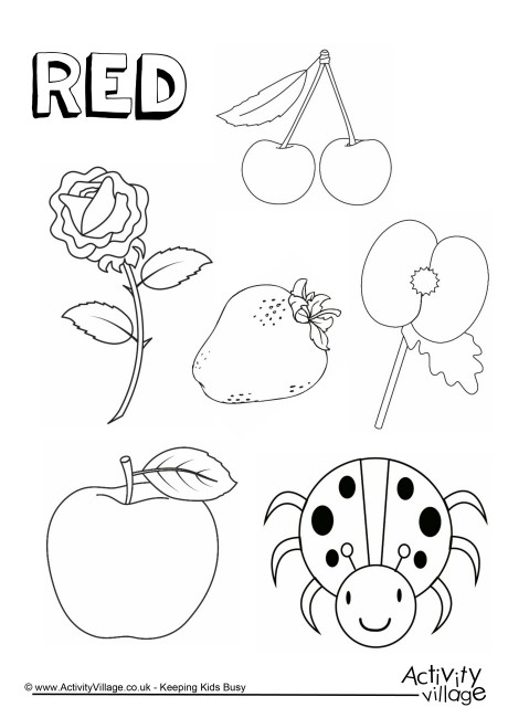 460x650 Red Things Colouring Page Regarding Activity Village Coloring
